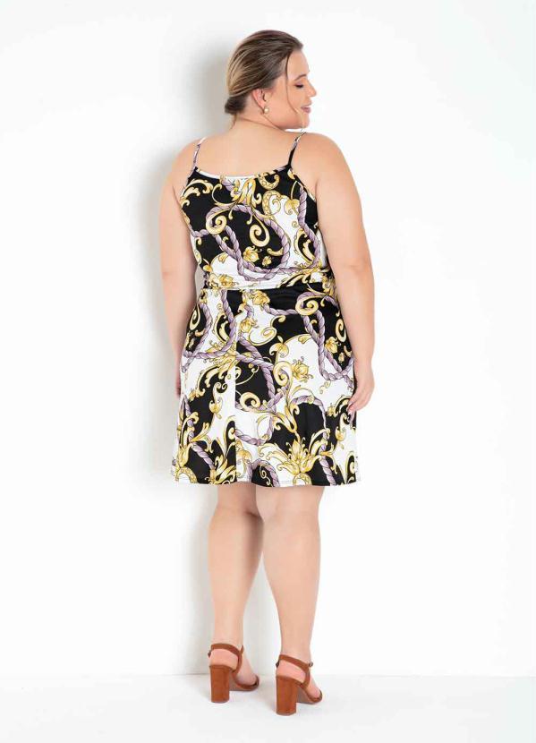 Vestido Alça Transpassado Plus Size