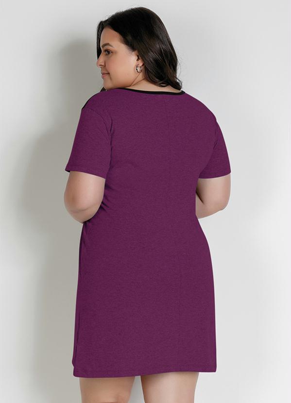 Vestido Curto Básico Tricolor Plus Size