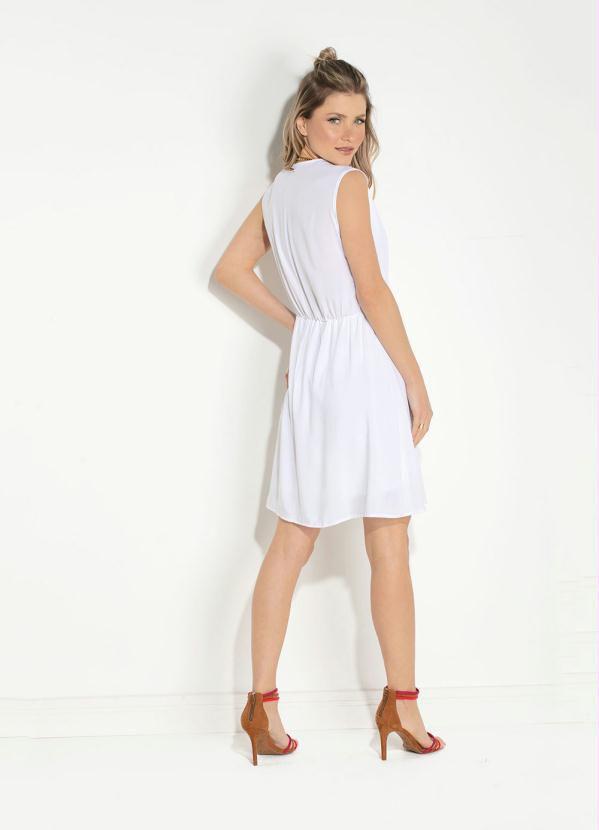 Vestido Curto Viscose Branco