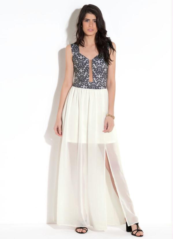 deb71e9610 vestido longo branco casamento civil festa social plus size - - De R ...