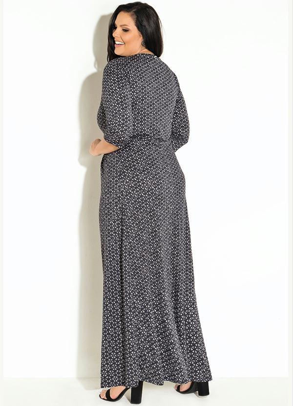 Vestido Longo Manga 7/8