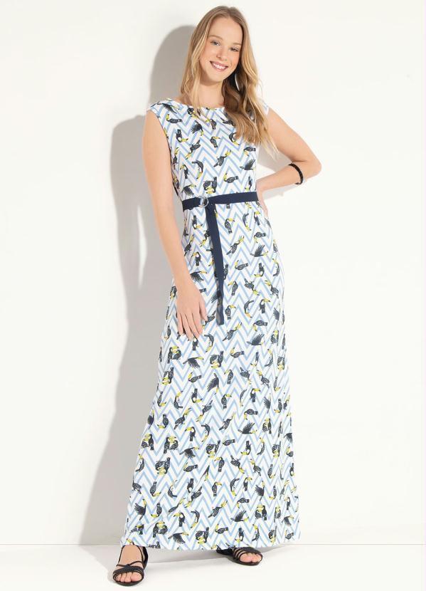 86f6d70dc8 vestido evangelico longo manga curta azul plus size - Longo - Marca ...