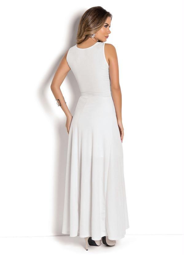 Vestido Longo Regata Branco