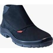 Botina Segurança Couro Nobuck Preta Velcro Bico de Pvc CA 16252