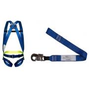 Cinturão Paraquedista 1 Ponto 2002 + Talabarte Simples 1 Gancho 6001