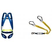 Cinturão Paraquedista 1 Ponto 2002 + Talabarte Y Elastizado ABS 6004