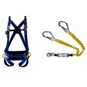 Cinturão Paraquedista 5 Pontos Espaço Confinado 2005 + Talabarte Y Elastizado ABS 6004