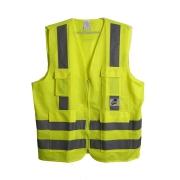 Colete de Segurança Super Safety / Vicsa Refletivo 4 Bolsos Verde