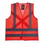 Colete de Segurança Super Safety/Vicsa Refletivo Sem Bolso Laranja Telado