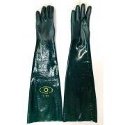 Luva Handschuhe Pvc Forrada Palma Aspera Pvc 70cm