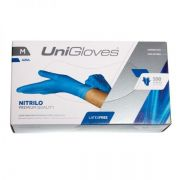 Luva Procedimento Unigloves Nitrílica Azul Sem Pó
