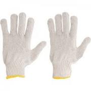 Luva Tsuzuki De Malha Tricotada Algodão  Branca - 12 Pares