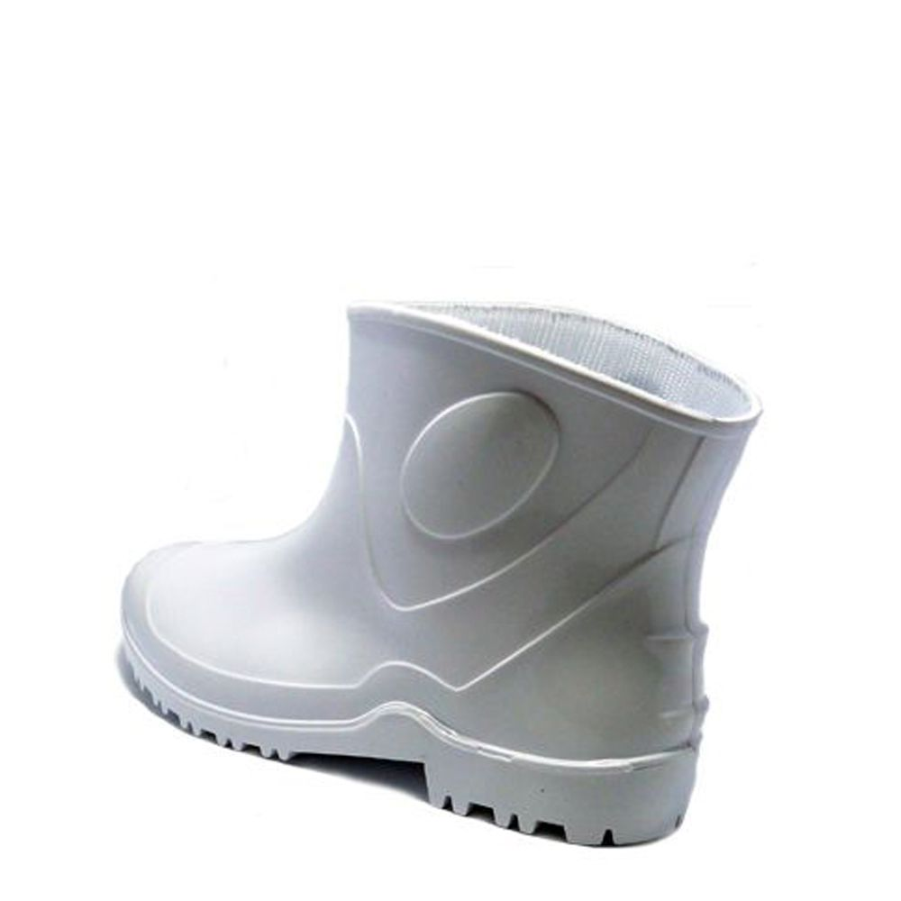 6993ffdc7eb Bota PVC Borracha Impermeável Tipo Galocha Cano Extra Curto Branca ...