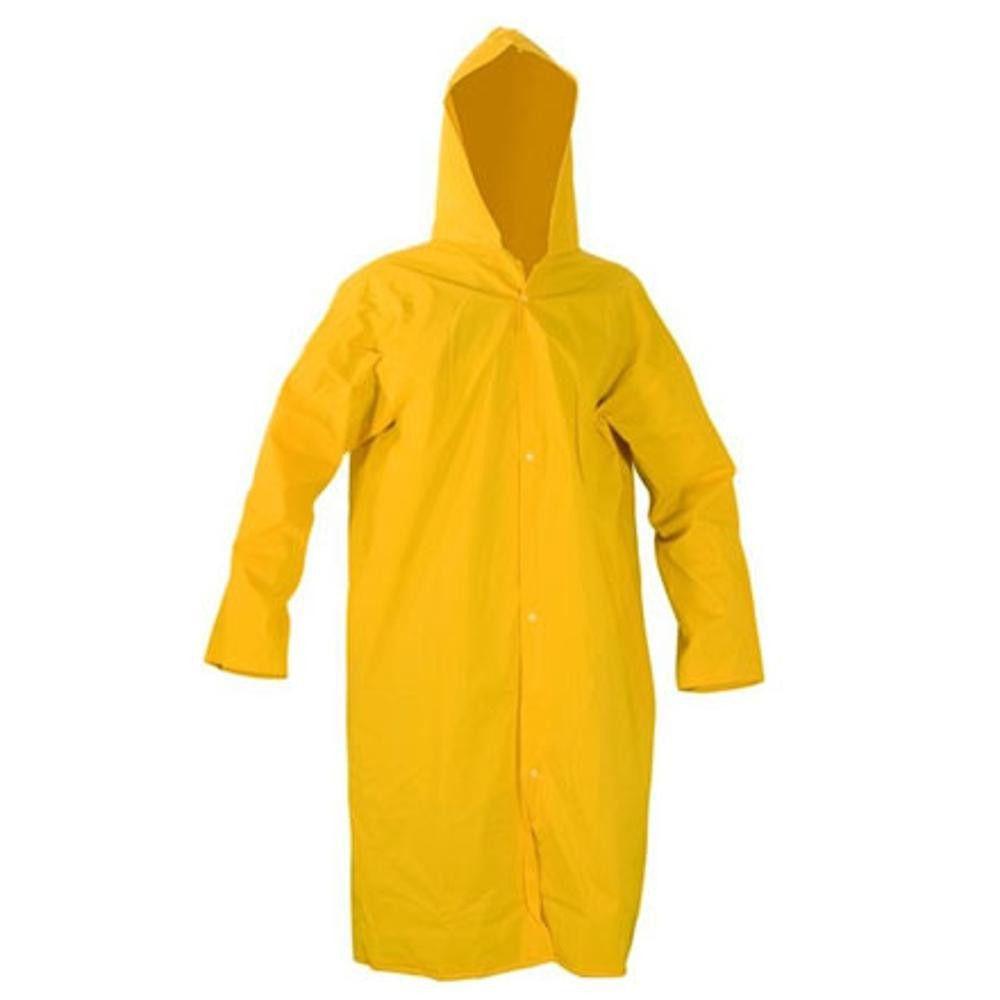 Capa de Chuva Amarela Forrada Tamanhos P, M, G e GG