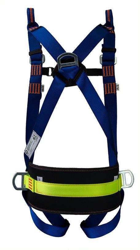 Cinturão De Segurança Paraquedista 5 Pontos Abdominal Para Espaço Confinado Life 2005