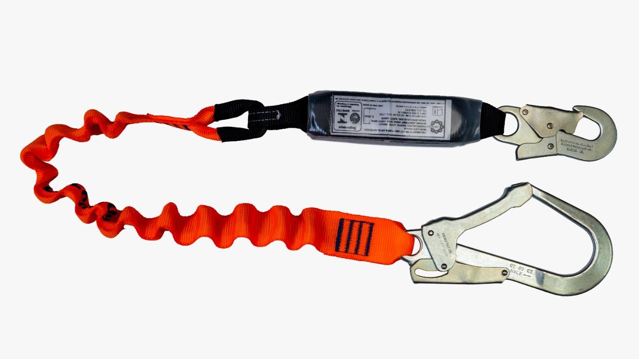 Cinturão Paraquedista 1 Ponto 2002 + Talabarte em I Com ABS Elastizado 6004-A