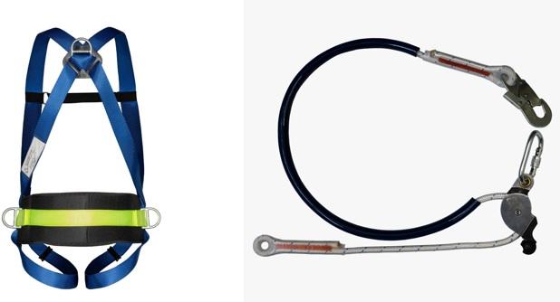 Cinturão Paraquedista 3 Pontos 2004 + Talabarte de Posicionamento 6006