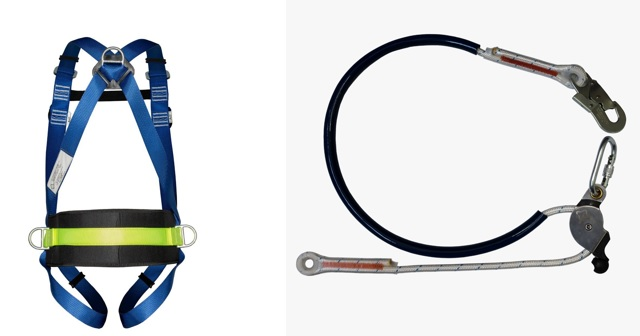 Cinturão Paraquedista 4 Pontos 2006 + Talabarte de Posicionamento 6006
