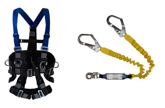 Cinturão Paraquedista 5 Pontos 2007 + Talabarte Y Elastizado ABS 6004