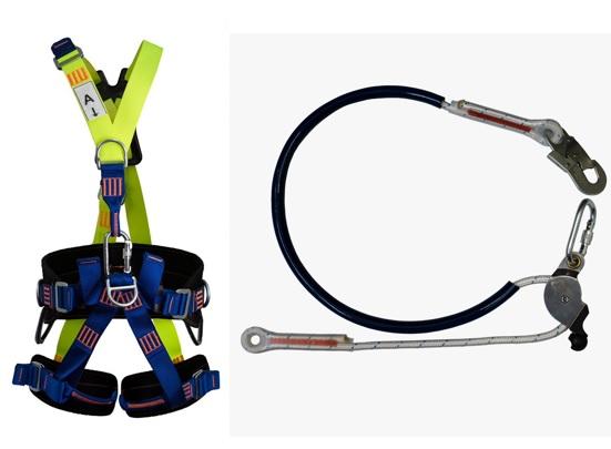 Cinturão Paraquedista 5 Pontos 2008 + Talabarte de Posicionamento 6006