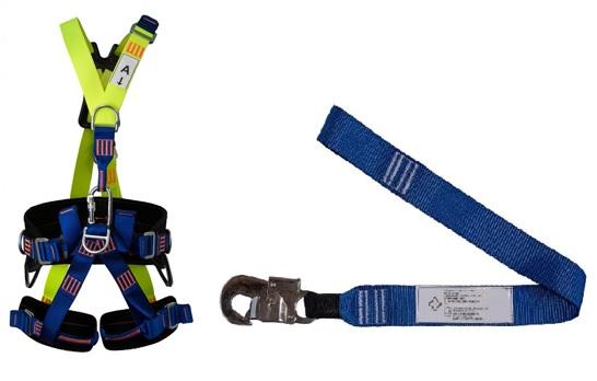 Cinturão Paraquedista 5 Pontos 2008 + Talabarte Simples 1 Gancho 6001