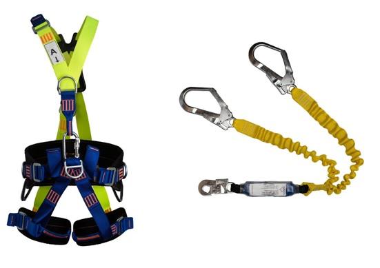 Cinturão Paraquedista 5 Pontos 2008 + Talabarte Y Elastizado ABS 6004