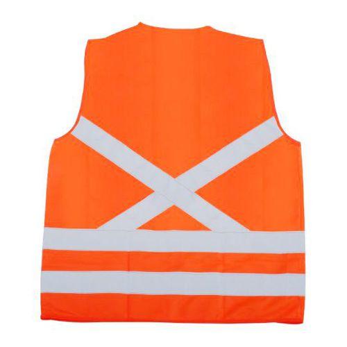 Colete de Segurança Super Safety Refletivo 1 Bolso Laranja