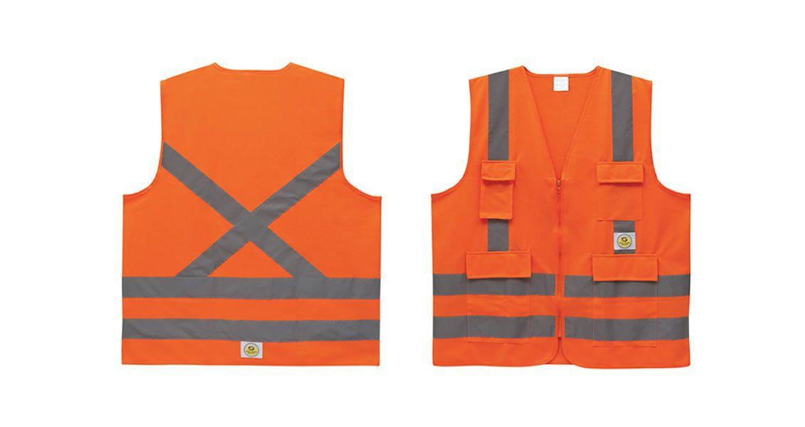 Colete de Segurança Super Safety Refletivo 4 Bolsos Laranja