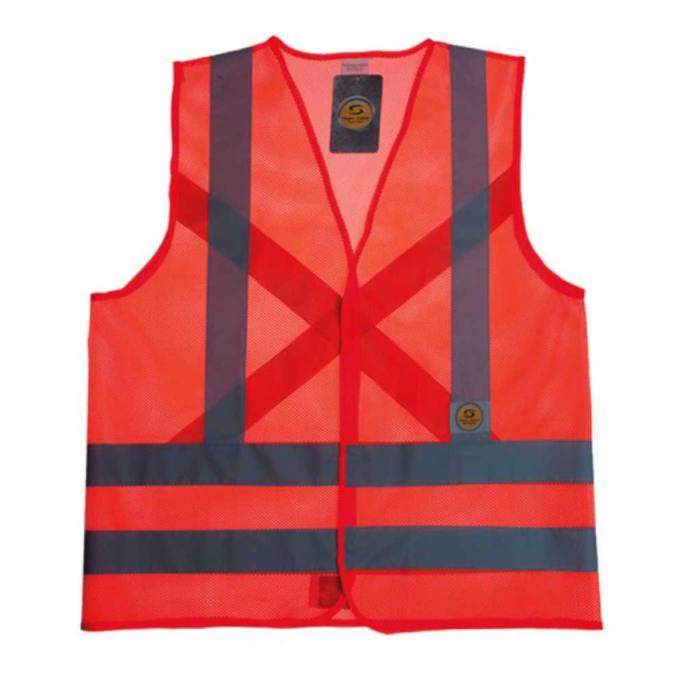 Colete de Segurança Super Safety Refletivo Sem Bolso Laranja Telado