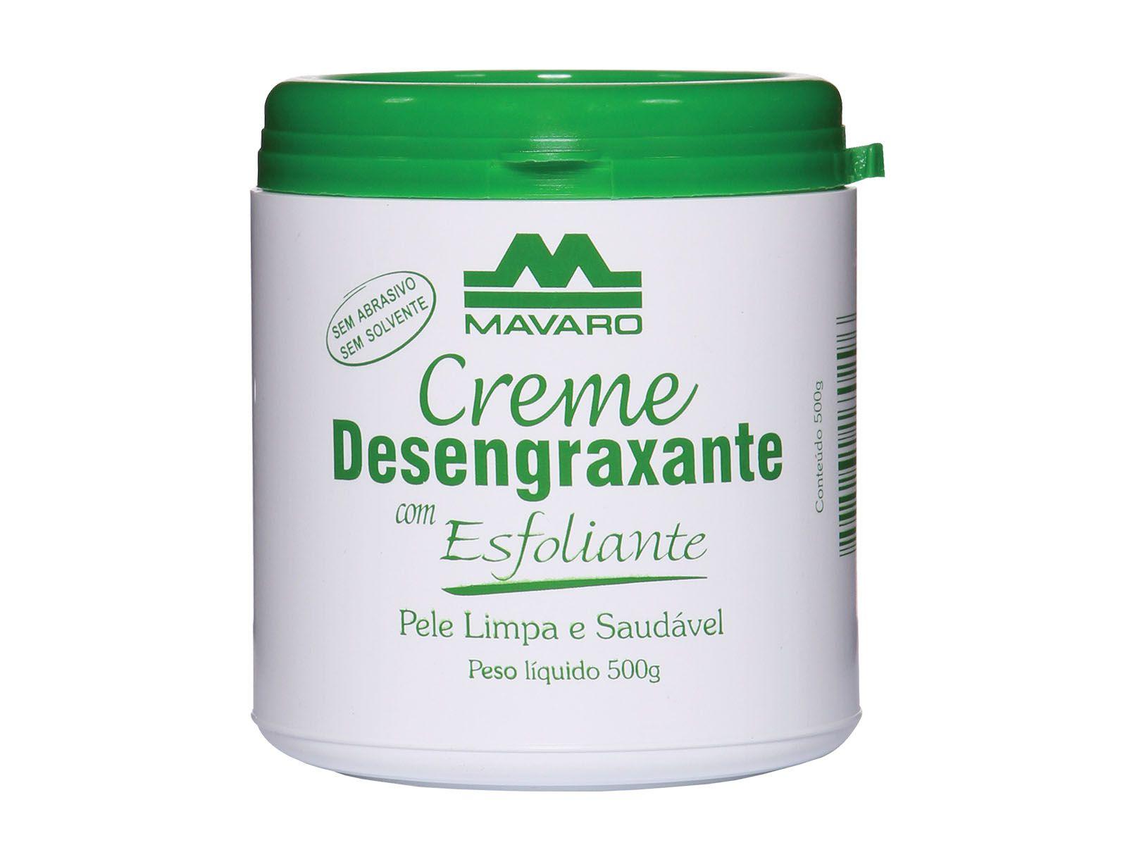 Creme desengraxante com esfoliante Mavaro 500g
