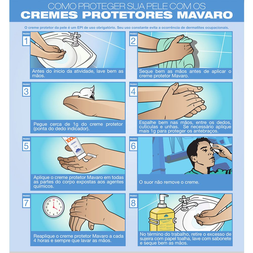 Creme Protetor Mavaro Para as Mãos Pm 50 150g