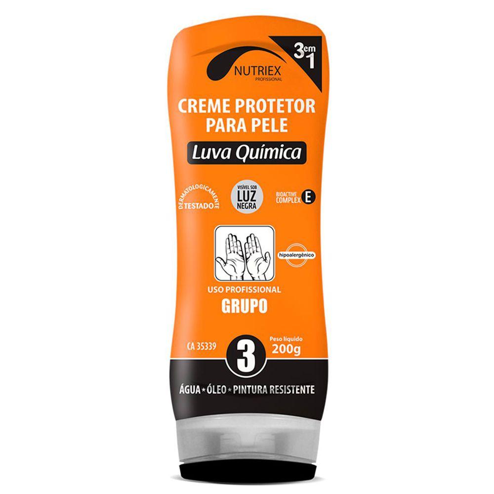 Creme Protetor Nutriex Para a Pele Luva Química 200g