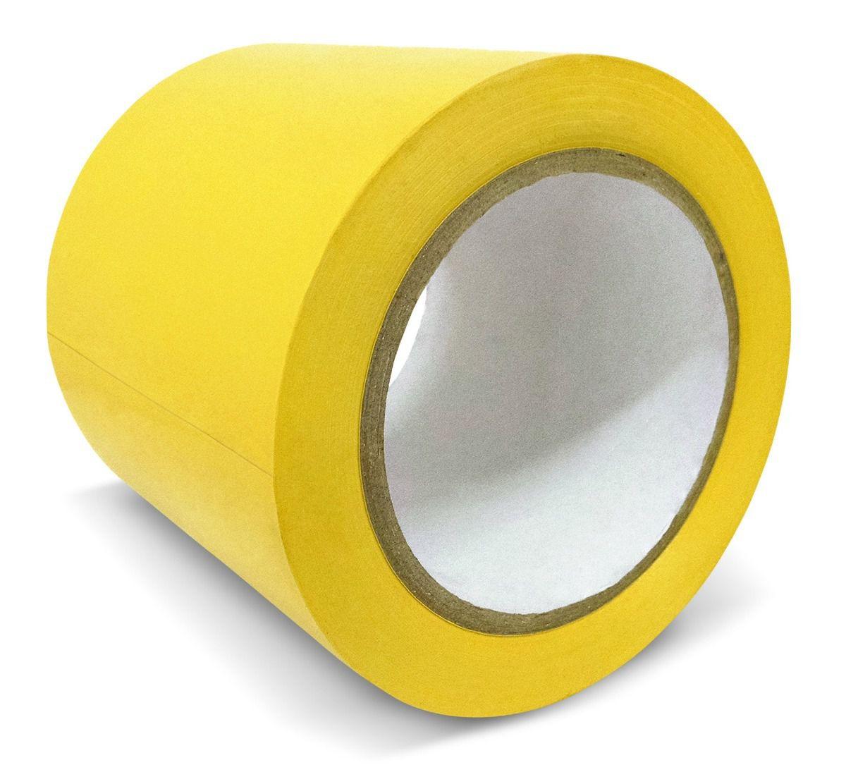 Fita Adesiva Sinalização Demarcação Amarela 48mm x 30mt