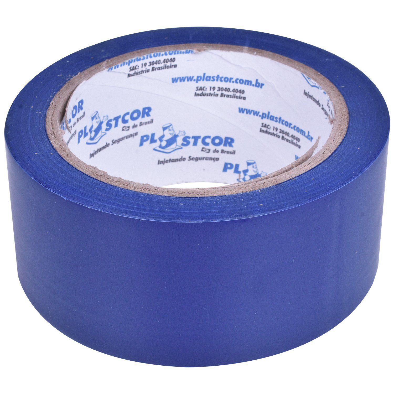 Fita Adesiva Sinalização Demarcação Azul 48mm x 30mt