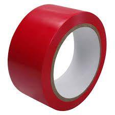 Fita Adesiva Sinalização Demarcação Vermelha 48mm x 30mt