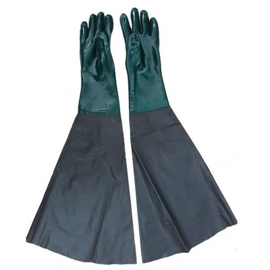 Luva Handschuhe Pvc Forrada Jatista Jato De Areia 75cm