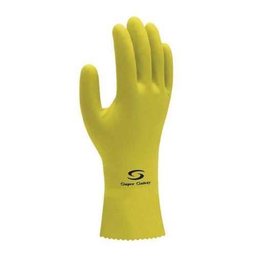 Luva Látex Super Safety Amarela Tam. M  - 12 Pares