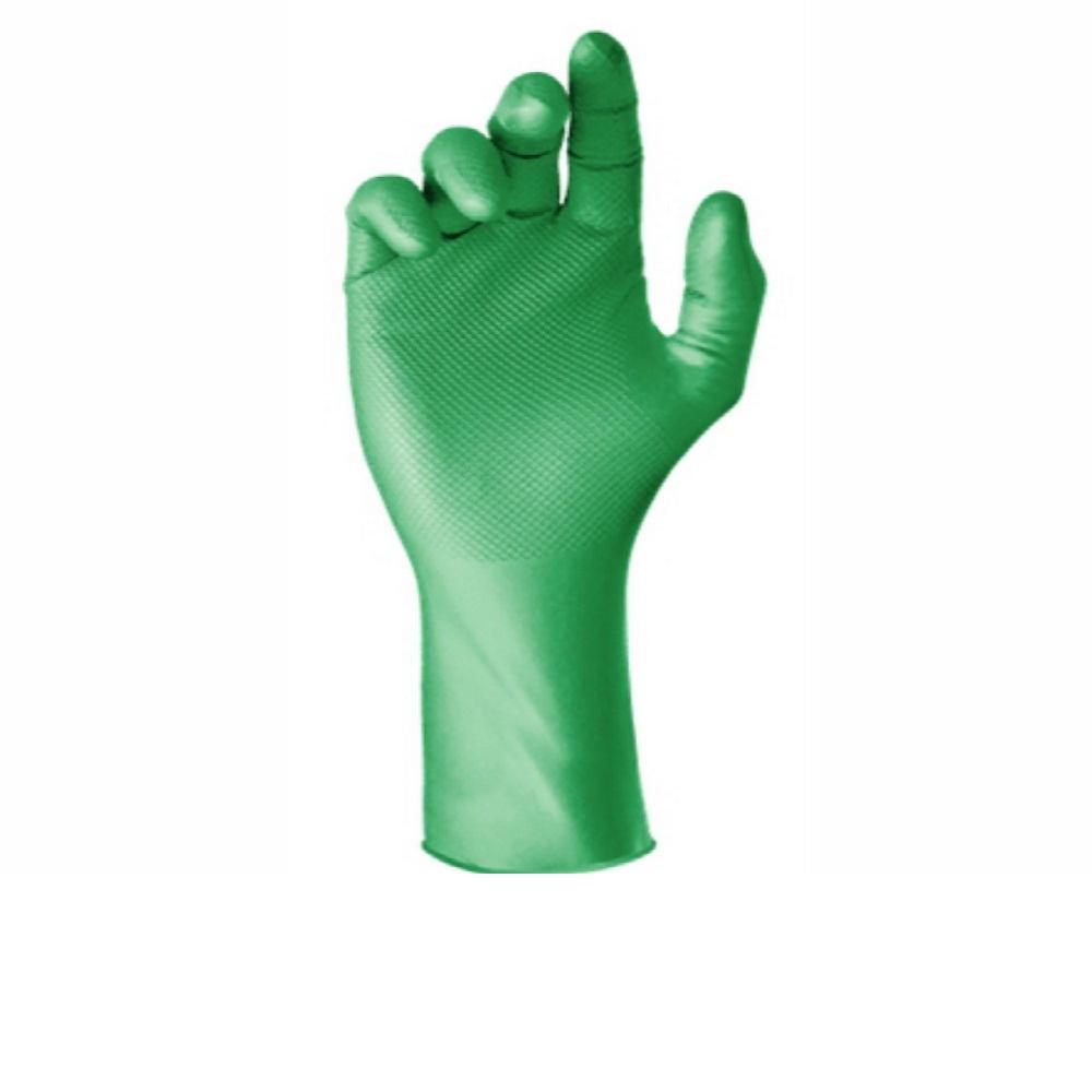 Luva Látex Super Safety Verde Tam. P ao XG  - Pacote 12 Pares