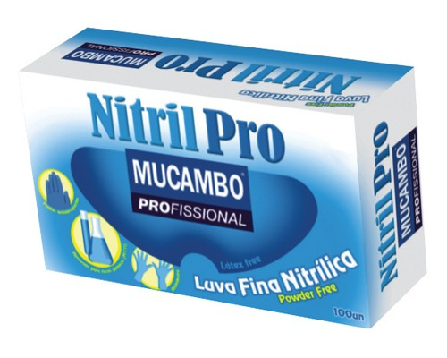 Luva Procedimento Nitrílica Nitril Pro 899 Azul Sem Pó