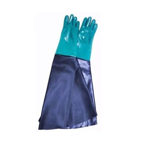 Luva Handschuhe Pvc Forrada Jatista Jato de Areia Mão Direita 75cm