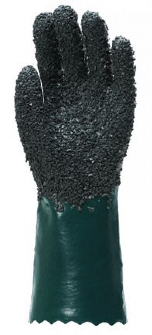 Luva Handschuhe Pvc Forrada Palma Granulada 26cm