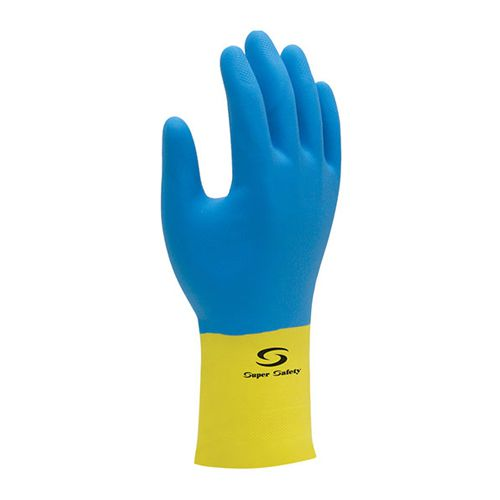 Luva Super Safety de Neoprene e Látex Tam. G - 6 Pares