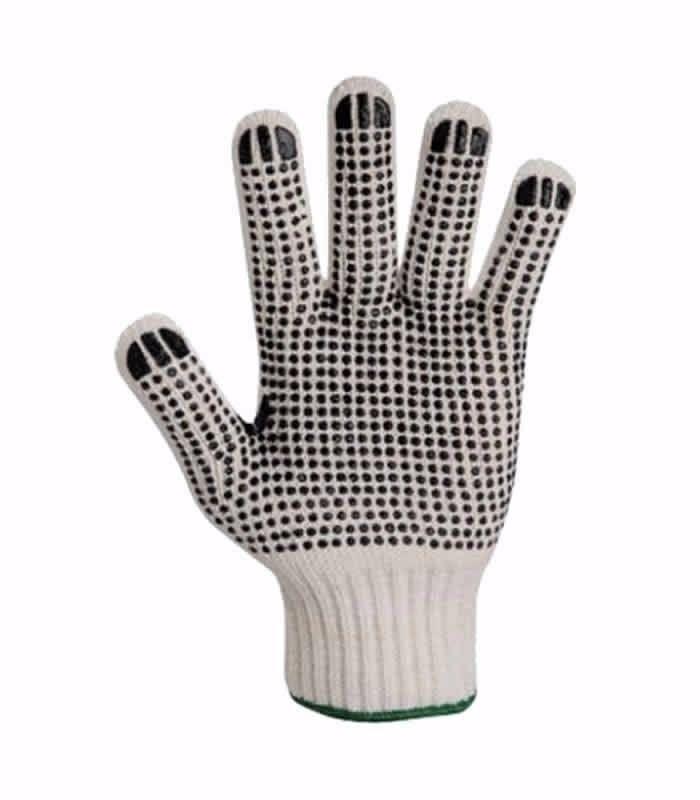 Luva Super Safety Tricotada de Algodão Pigmentada 4 Fios Branca - 12 Pares