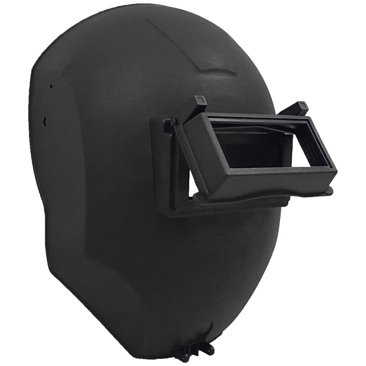 Máscara P/ Solda Plastcor Polipropileno Visor Articulado + 2 Filtros Luz + 1 Vidro Transparente