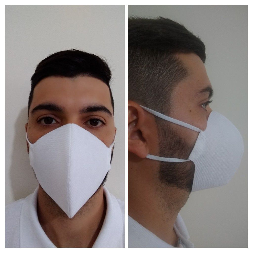 Mascara TNT Lavável Reutilizavel Gramatura 100 Pacote com 20 Peças