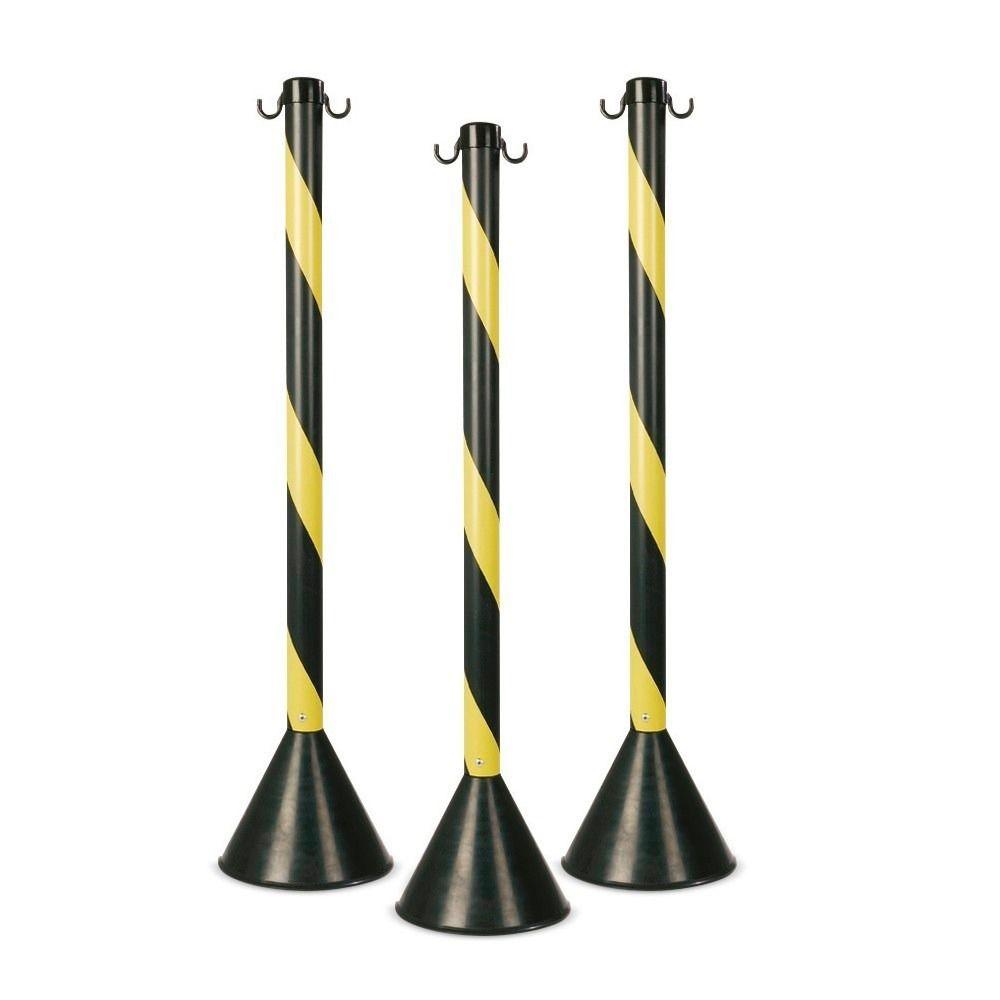 Pedestal Kteli Amarelo e Preto 94cm - Caixa 4 Peças