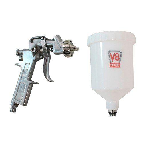 Pistola de Pintura Pp3 Gravidade Hvlp Bico 1,5mm V8 Brasil