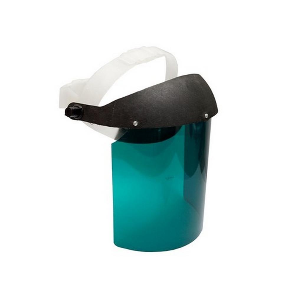"""Protetor Facial Plastcor Incolor ou Verde 8"""" CA 15019 / CA 30115"""