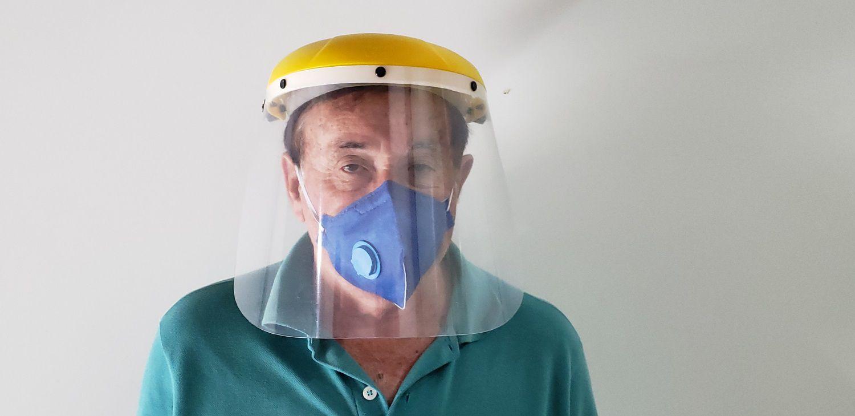 Protetor Facial Transparente 8 Polegadas Uso Hospitalar