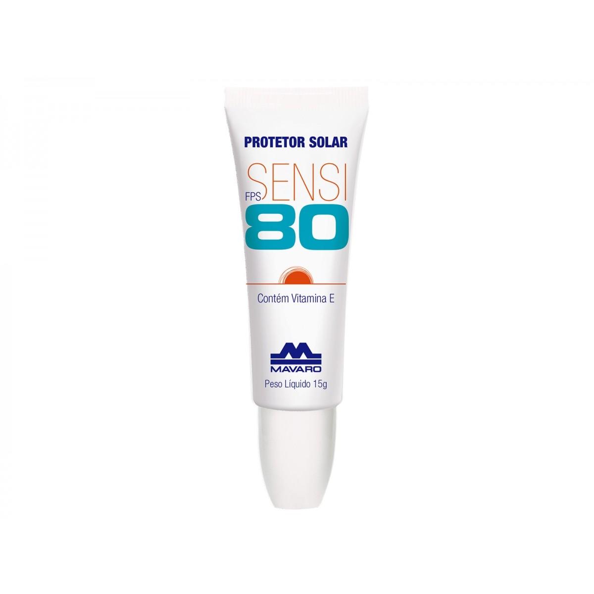Protetor Solar Labial Sensi FPS 80 15g Mavaro